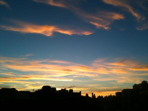 Sunset over Manhattan seen from Astoria, Queens