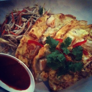 Thai Seafood Pancake at Leng Thai on Broadway in  Astoria